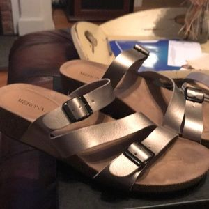 Merona silver metallic sandal